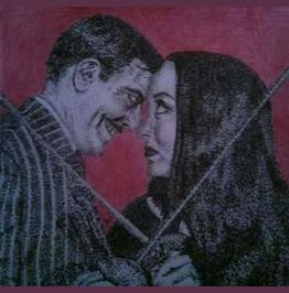 Cara Mia! Gomez And Morticia Addams 8x10 Print