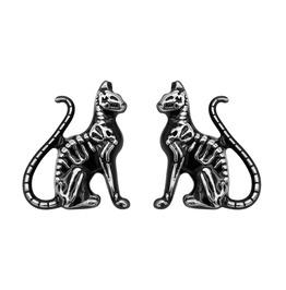 Feral Bones Cat Earrings
