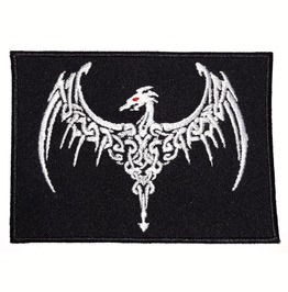 Dragon Variation 7 Embroidered Patch, 4,8 X 3,6 Inch