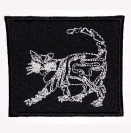 Cat Embroidered Patch, 2,8 X 2,4 Inch