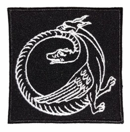 Alchemical Ouroborus Embroidered Patch, 3,2 X 3,2 Inch