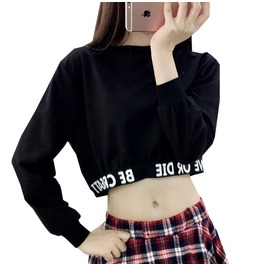 Be Creative Or Die Long Sleeve Crop Top Sweatshirt