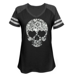 Lace Skull Game Day Jersey
