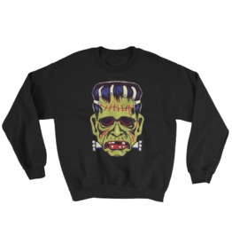Frankenstein Halloween Mask Sweatshirt