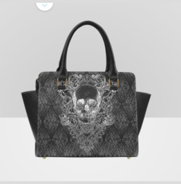 Gothic Baroque Skull Shoulder Handbag
