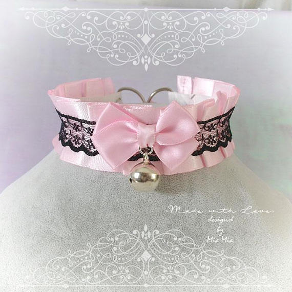 rebelsmarket_kitten_pet_play_collar_bdsm_ddlg_choker_necklace_pink_black_lace_bow_ring_necklaces_5.jpg