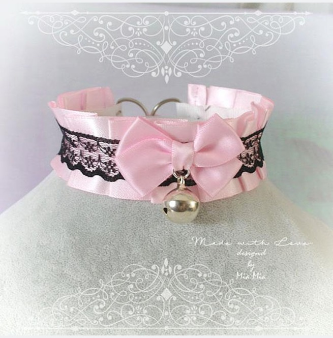 rebelsmarket_kitten_pet_play_collar_bdsm_ddlg_choker_necklace_pink_black_lace_bow_ring_necklaces_3.jpg