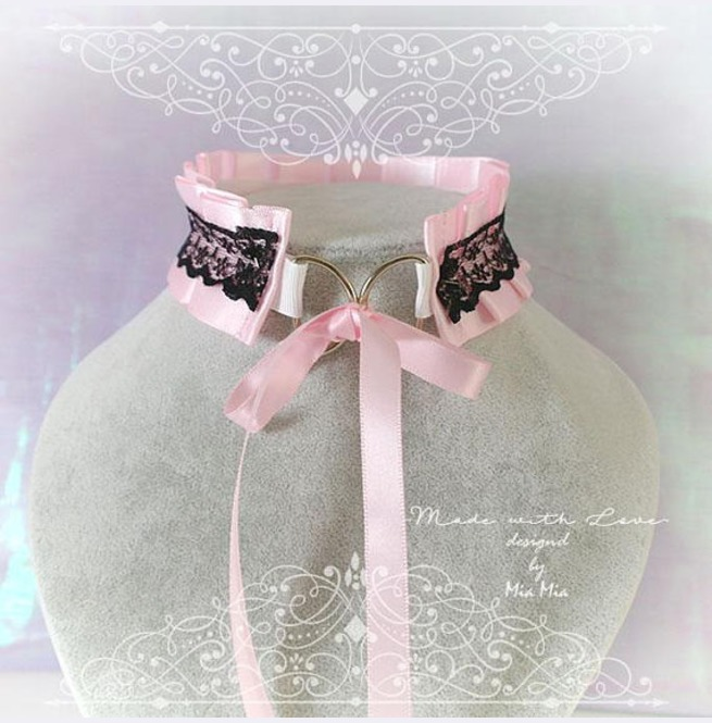 rebelsmarket_kitten_pet_play_collar_bdsm_ddlg_choker_necklace_pink_black_lace_bow_ring_necklaces_2.jpg