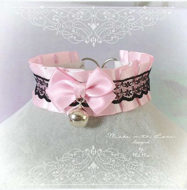 rebelsmarket_kitten_pet_play_collar_bdsm_ddlg_choker_necklace_pink_black_lace_bow_ring_necklaces_4.jpg