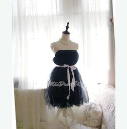 Ballerina Black Swan Angel Tutu Tulle Puff Babydoll Dress Skirt Multi Way