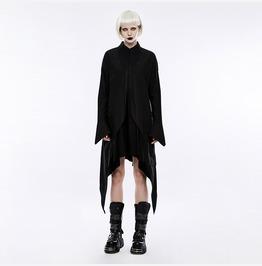 Punk Rave Women's Gothic Bat Wings Curve Shirt Material Dress Opq213 Lqf/Bk