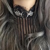 Rebelsmarket necklace choker pentacl o ring witch choker goth gothic wicca jewelry jewe necklaces 4