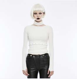Punk Rave Women's Separate Collars Split Sweater Opm071 Tmf