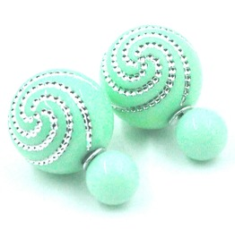 Awesome Ball Mint Green Stud Earrings