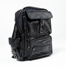 Metal Hook Closure Square Leather Backpack 67