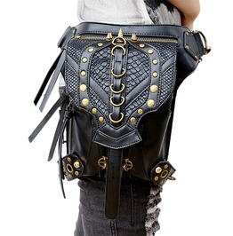 Punk Woman Cross Body Leather Waist Leg Shoulder Bag