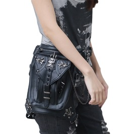 Punk Leather Messenger Multifunction Leg Bag