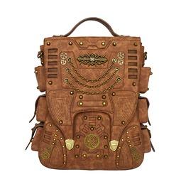 Unisex Punk Gothic Shoulder Large Capacity Travel Backpack