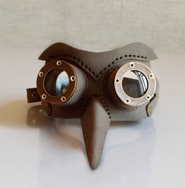 Steampunk Retro Brown Eye Cosplay Mask