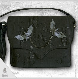 """Vlad Big Black"" Gothic Style Shoulder Bag"