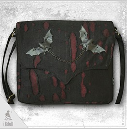 """Vlad Big Red"" Gothic Style Shoulder Bag"