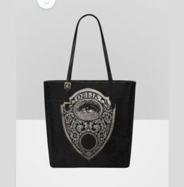 Ouija Planchette Mystic Eye Leather Tote Bag
