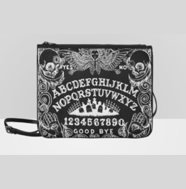 Ouija Board Angel Of Death Black Shoulder Clutch