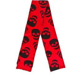 Sourpuss Skulls Print Reversible Scarf