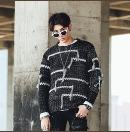 Fashion Mens Casual Round Neck Knitted Sweater