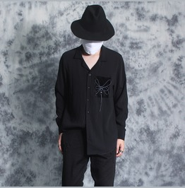 New Fashion Punk Rock Black Casual Shirts
