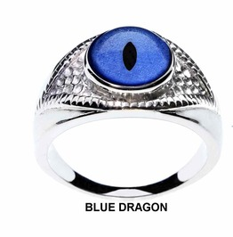 Dragon Eye Rings |Choose From Red Green Blue Or Gold Dragon Eyes |Unisex