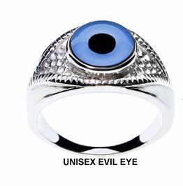 Evil Eye Ring | Choose From 3 Exotic Glass Eye Designer Rings | Unisex