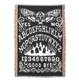 Ouija Board Death Moth Throw Blanket
