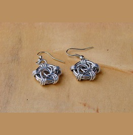 Handmade Penta Spiral Earrings
