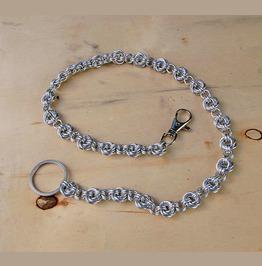 Handmade Möbius Spiral Wallet Chain