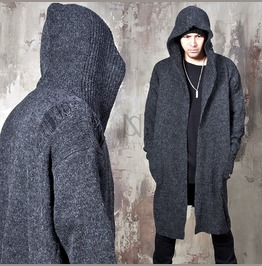 Avant Garde Distressed Hooded Knit Cardigan 117