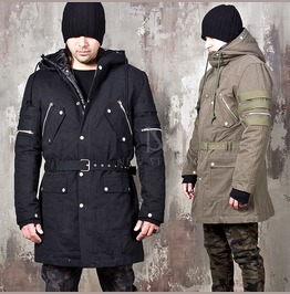 Detachable Padded Lining Multiple Accent Field Jacket 298