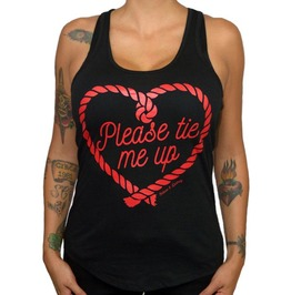 Please Tie Me Up Womens Tank