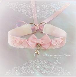 Kitten Play Cat Collar Costume Choker Necklace Baby Pink White Lace Neko