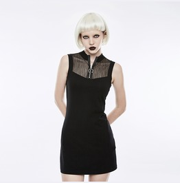 Authentic Punk Rave Gothic Festival Black Mini Dress