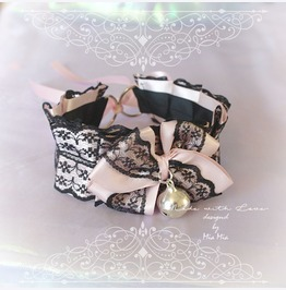 Kitten Pet Play Cat Collar Choker Necklace Pink Black Lace Bow Bell Sexy