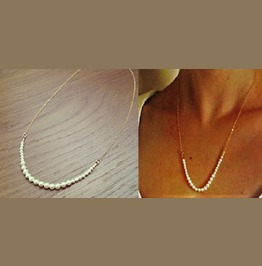 Elegant Vintage Small Freshwater White Pearls Gold Chain Pendant Necklace
