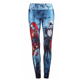 3 D Print Nightmare Before Christmas Cosplay Slim Leggings Women
