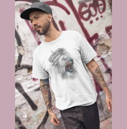 """Lion Heart"" Men's Tri Blend Tee"