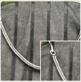 Stainless Box Weave Wallet Chain