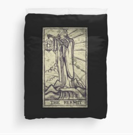 The Hermit Tarot Duvet Cover