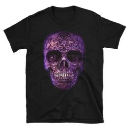 Purple Sugar Skull Tee Shirt