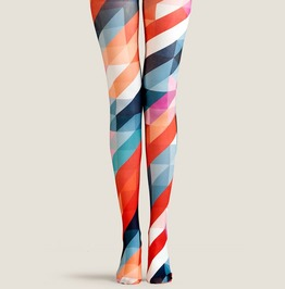 Women Colorful Printed Street Wear Tight Leggings P1