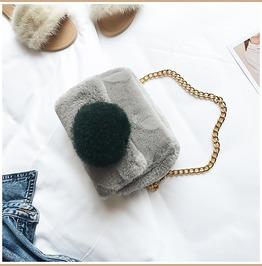 Winter Faux Fur Fluffy Bag Purse Handbag Black Red Gray Beige Green