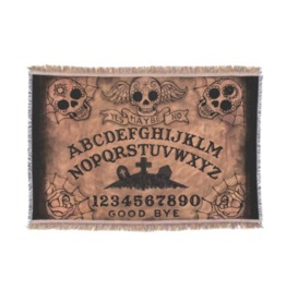 Sugar Skull Ouija Board Throw Blanket